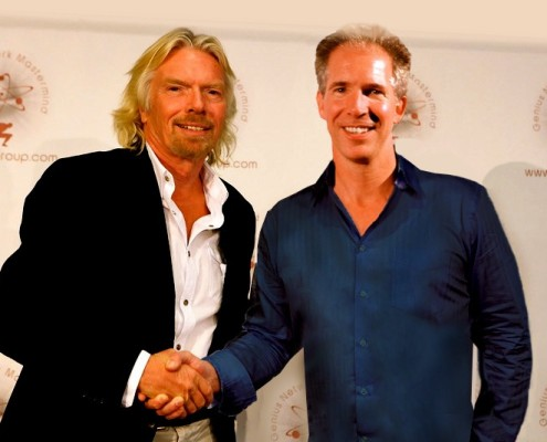 Sir Richard Branson and David Jensen