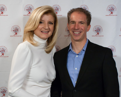 Arianna Huffington and David Jensen